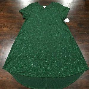 🎁NWT carly sparkle lularoe green dress Size 2X